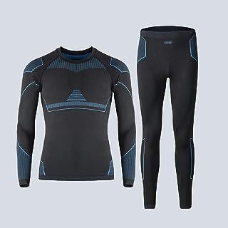 طقم ملابس داخلية حرارية للرجال من NYKK Ski Outfit ، طبقة أساسية رياضية للذكور ، طقم معدات شتوية للتزلج والركض (المقاس: إكس...