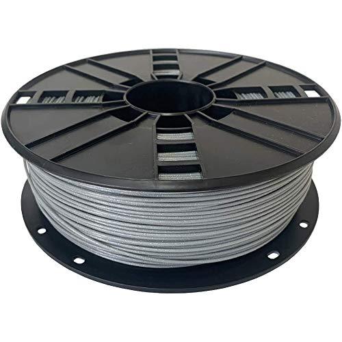 Ampertec Filamento PLA 3D brillante – PLA 1,75 mm, bobina de 1 kg (gris)