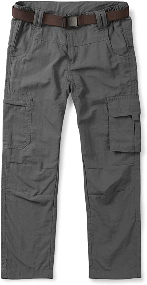 Outdoor Hiking Camping Fishing OCHENTA Kids Boys Youth Quick Dry Pull on Cargo Pants