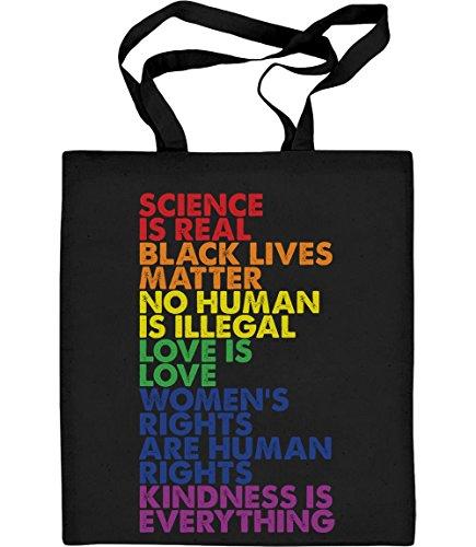 Shirtgeil Love is Love Pride LGBT Kleidung - Lesbian & Gay Jutebeutel Baumwolltasche One Size Schwarz