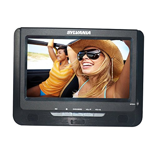 Lowest Price! Sylvania SDVD9957 Portable DVD Player with Dual 9in Screen (Black) (Renewed)