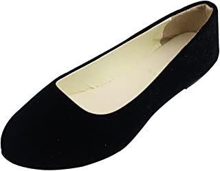 Stunner Women Cute Slip-On Ballet Shoes Soft Solid Classic Pointed Toe Flats by