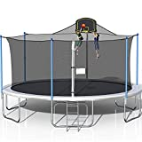 1000LBS Tranpoline for Adults and Kids, 16FT Large Tranpoline with...