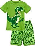MOMBEBE COSLAND Pijama Corto Niños Dinosaurio Conjuntos Verano Algodón 2-3 Años Verde