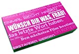 Gutscheinbuch für Frauen | WÜNSCH' DIR WAS, FRAU! - 12 perforierte Postkarten zum Raustrennen
