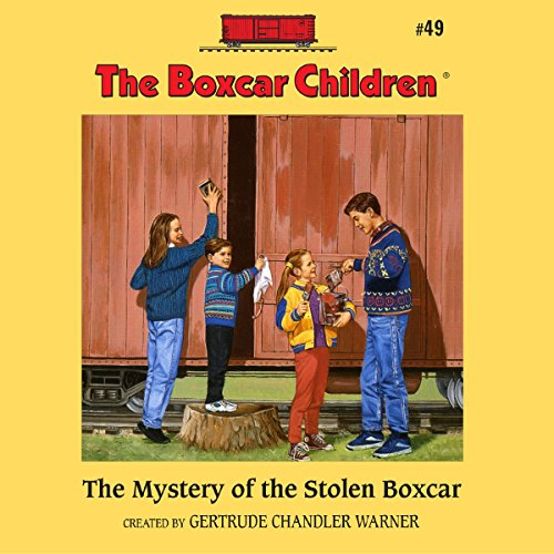 The Mystery of the Stolen Boxcar audiobook cover art