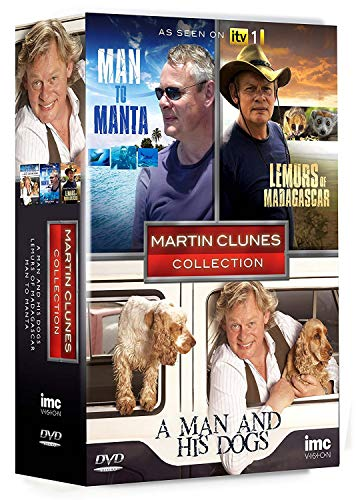 Martin Clunes 3 DVD Collection - A Man and His Dogs, Man to Manta & Lemurs of Madagascar - As Seen on ITV1 [Reino Unido]