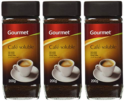 Gourmet - Café soluble - Tueste natural - 200 g - [Pack de 3]
