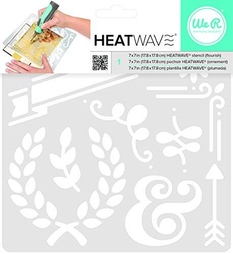 American Crafts We R Memory Keepers Heatwave Flourish Stencil, 7 x 7