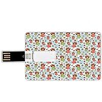 8GB Forma de tarjeta de crédito de unidades flash USB Anime Estilo de tarjeta de banco de Memory Stick Niñas lindas con frutas,gofres,sombreros,galletas,rosquillas y pastelitos,deliciosos pasteles,mul
