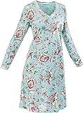 Hutschreuther Damen-Nachthemd Single-Jersey helltürkis Größe 44