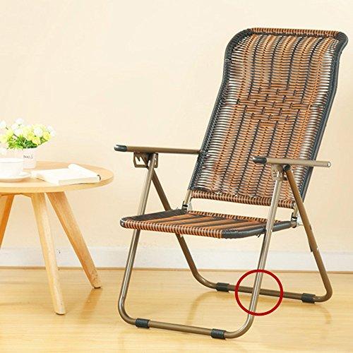 Sunloungers Feifei en Osier Chaise Pliante arrière réglable en rotin Chaise Longue Chaise Longue Pliable