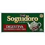 Sognid'Oro - Tisana Digestiva, con Anice, Liquirizia e Menta - 4 confezioni da 20 filtri [80 filtri, 160 g]