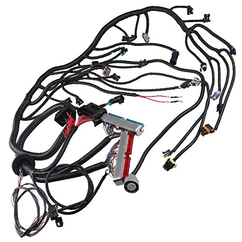 WMPHE Engine Wiring Harness Professional Standalone Wiring Harness with 4L60E Drive By Cable LS1 4.8 5.3 6.0 1997-2006 EV1 Injector Plug and 3 Pin Maf