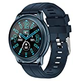 Bywenzai Orologio Smart Watch Blood Pressure Cardiofrequenzimetro Bracciale Fitness Chiamata Telefonica Smart Watch Donna Uomo Orologio Sportivo Blu
