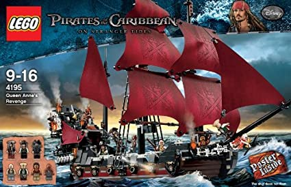Amazon Com Lego Pirates Of The Caribean Queen Anne S Revenge Toys Games