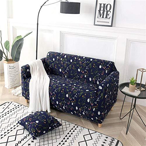 BKHBJ Geometrische Bunte Drucken Sofa Cover elastische Hussen Anti-schmutzig Couch Cover Sofa Funiture Cover Handtuch alle Wrap-Denim_Einfach 90-140CM_China
