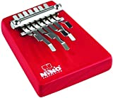 Nino Percussion Kids' Kalimba with Five Chrome Plated Steel Keys, Medium Size - NOT MADE IN CHINA - Radiata Pine, for Classroom Music or Playing at Home, 2-YEAR WARRANTY, inch (NINO964R)