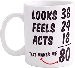 Funny 1938 80th Birthday Gifts Ideas Mug for Men and Women Best Novelty Ceramic Coffee Mugs Anniversary or Christmas Unique Gift Idea for Him, Her, Husband or Wife - 80 Year Old Presents for Mom, Dad