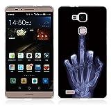 FUBAODA für Huawei Ascend Mate 7 Hülle, Künstlerische Knochen-Serie TPU Case Schutzhülle Silikon Case für Huawei Ascend Mate 7