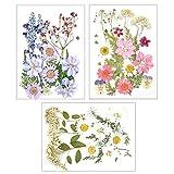 Sacjkt Flores Prensadas Secas, Flores Secas Naturales, 49 PCS Decorativas De Flores Secas Mixtas, para Velas De Maquillaje De Niñas, Álbum De Recortes, Decoraciones Florales (Púrpura Rosa Blanco)