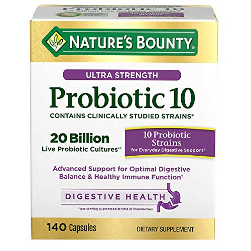 Nature's Bounty Expect More Ultra Strength Probiotic 10, 140 Capsules