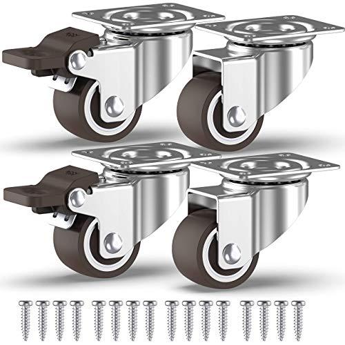 /max 100/kg per set 4/x 40/mm girevole castors- mobili Qty elettrodomestici e attrezzature Small Wheels by Bulldog ruote/