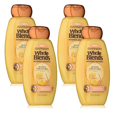 Garnier Whole Blends Repairing Shampoo Honey Treasures, 4 Count