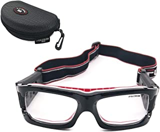Panda Googles Protective Eyeguard, Anti-Fog Over The Glasses Safety Goggles for High Impact Sports - Basketball, Lacrosse, Floor Hockey, Racquetball Goggles with Case