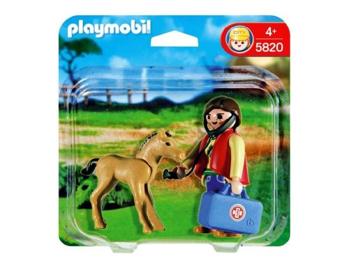 PLAYMOBIL Duo Pack Veterinaria   Potro