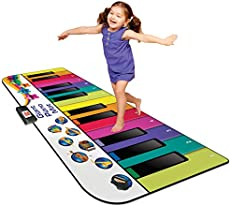 Kidzlane Floor Piano Mat for Kids and Toddlers - Giant 6 feet Piano Mat, 24 Keys – 10 Song Cards, Built in Songs, Record & Playback, 8 Instrument Sounds – Age 3+
