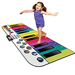 commercial Kidzlane Piano Floor Mats for Kids and Toddlers – Huge 6ft Piano Mats, 24 Keys – 10 Song Cards,… play mat piano