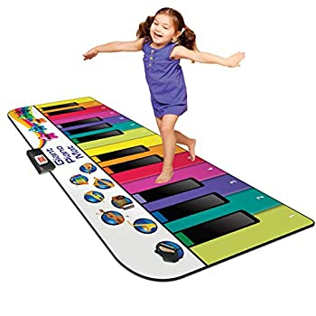 Kidzlane Floor Piano Mat for Kids and Toddlers | Giant 6 ft Piano Mat 24 Keys 10 Song Cards Built in Songs Record & Playback 8 Instrument Sounds | Musical Gift Toy for Boys & Girls Ages 3+