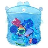 LYYDAN Organizador de juguetes de baño, red de baño para niños pequeños, red para juguetes con 2 ventosas, ganchos para bañera, productos para bebés, evita el moho en juguetes