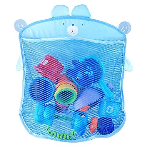 LYYDAN Bad Spielzeug Organizer, Kleinkind Badewannennetz Bad Spielzeug Netz mit 2 Saugnäpfen Haken für Badewannen Baby Produkte, Verhindert Schimmel an Spielzeugen