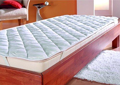 7dreams Mikrofaser Matratzenauflage, Premium Matrazenschoner 95x195cm - Boxspring-Betten und Wasser-Betten geeignet | Unter-Bett | Matratzen-Auflage | Schonbezug - Schlafen wie auf Wolke 7