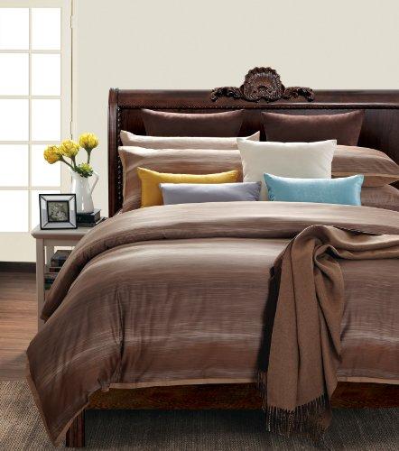 Ever Rouge Sahara Sun 300 Thread Count 100-Percent Cotton 7-Piece Duvet Set, Queen