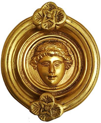 Purpledip - Aldaba para puerta (latón), diseño antiguo romano (11594)