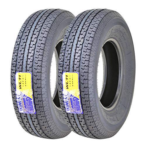 2 New WINDA Trailer Tires ST235/80R16 Radial 10PR Load Range E w/Side Scuff Guard