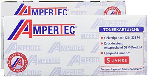 Ampertec LT1624/KIT1 Schwarz Kompatibel Toner Pack of 2