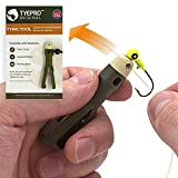 TYEPRO Original Knot Tying Fishing Accessory and Fishing Hook Threader, Line Cutting Clipper (Free Breakaway Lanyard and O-Ring Included, for Additional Clamping Force).All American-Made