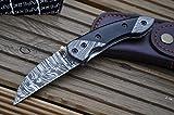 Perkin - Handmade Damascus Pocket Knife - Beautiful Folding Knife