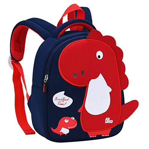 Uniuooi Kids Backpack Dinosaur School Bag for 2-5 Years Boys Navy