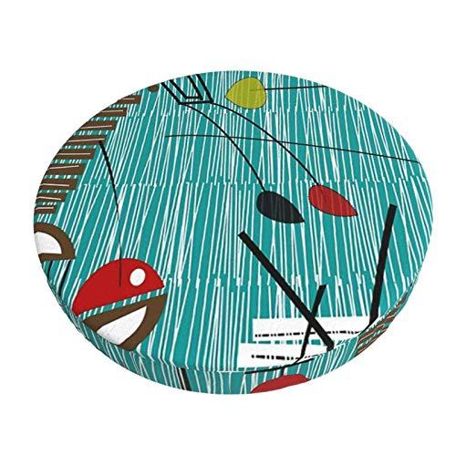 Fedso Runder Barstuhl-Kissenbezug, atmungsaktiv, waschbar, Hocker-Bezug, Tiki Tok Barhocker, Sitzbezüge, elastischer Hocker, 33 cm