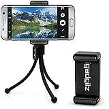 igadgitz Flexibles Beinen Mini Stativ mit Taschenclip + Premium Smartphone Halter Halterung