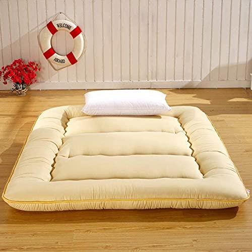 YCQ Colchón Plegable de Cuatro Estaciones,colchón Tipo futón en el Suelo de Estilo japonés,colchoneta de Tatami Gruesa y Suave para Dormir,persianas enrollables de Cuerpo Cosido y Acolchado