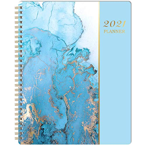2021 Planner - Weekly & Monthly Planner 8' x 10', Jan 2021-Dec 2021, Flexible Cover, to-Do List, Twin-Wire Binding