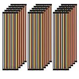 AZDelivery 5 x Jumper Wire Cables de Puente 20 cm Set de 120 pcs. cada uno Macho-Hembra/Macho-Macho/Hembra-Hembra compatible con Arduino y Raspberry Pi Breadboard con E-Book incluido! (600 pcs)