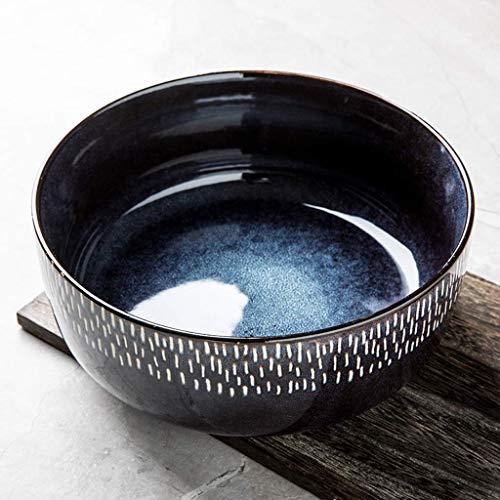 Restaurant supplies Creative Ceramic Large Bowl 8.5 Inch Soup Bowl Ramen Bowl Large Capacity Fruit Salad Mixing Bowl Retro Tableware Home Kitchen Supplies