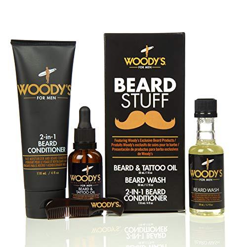 Woody's - Kit para Barba (Incluye Limpiador de Barba, acondicionador y Aceite)